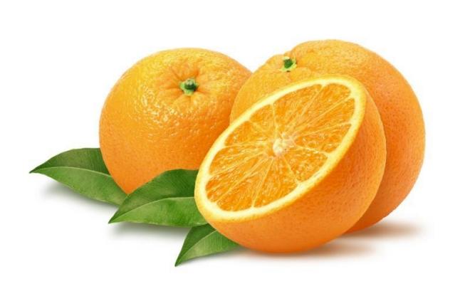 Naranja con su hoja